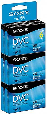 Sony DVM60PRR/6C 6-Pack 60-Minute Premium DVC Factory Sealed - Free Shipping!