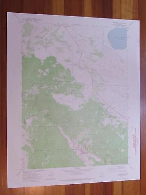 Janesville California 1974 Original Vintage USGS Topo Map