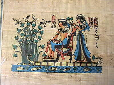 "EGYPTIAN WOMEN PAPYRUS PAPER HAND PAINTED ART #C 1994 ""RARE"" from UPPER EGYPT"