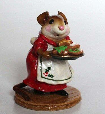 NEW Wee Forest FolkChristmas Sugar and SpiceMouseM-246Limited Ed Holly Apron