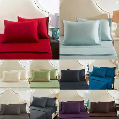 2pcs Solid Color Pillow Cases Standard Queen/King Size Bed Throw Cushion Covers