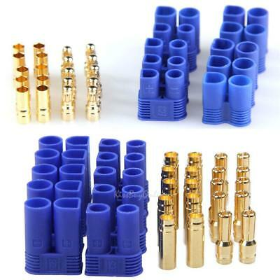 5 Pairs EC3/EC5 3mm/4mm Male Female Type Battery Connector Gold Bullet Plug