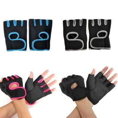 Unisex Work Out Gloves Weight Lifting Gym Sport Exercise Training Half Finger