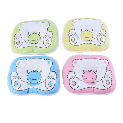 Bear Pattern Pillow Newborn Infant Baby Support Cushion Pad Prevent Flat Head EH