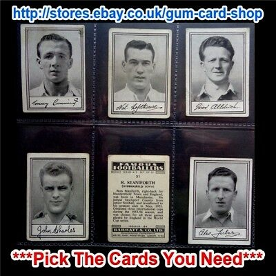 Barratt & Co - Famous Footballers 1954 - A.2 (F) *Pick The Cards You Need*