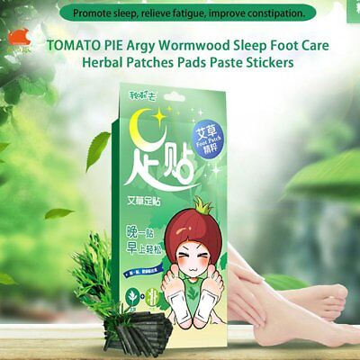 TOMATO PIE Argy Wormwood Sleep Foot Care Herbal Patches Pads Paste Stickers HT