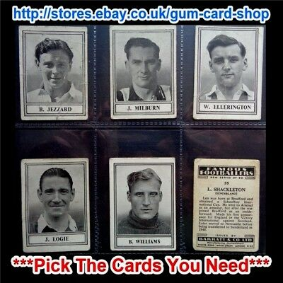 Barratt & Co - Famous Footballers  New Series C.1950 (F) *Please Select*