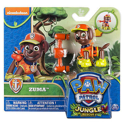 Paw Patrol Jungle Rescue Action Pack Hero Pup Zuma BRAND NEW