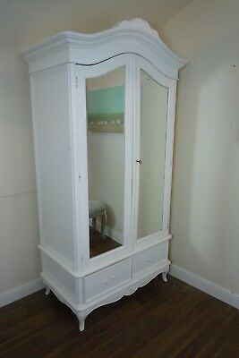 Double French Charroux Armoire In White - SOLD AS A SECOND