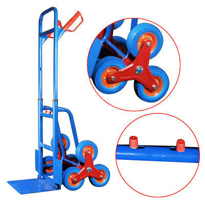 440lbs Folding Hand Truck 6 Wheel Stair Climbing Truck Moving Dolly High Quality