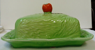 VINTAGE, C1930s, BESWICK CABBAGE LEAF CHEESE OR BUTTER DISH,