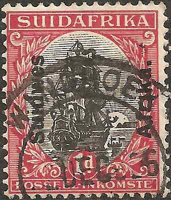 USED 1926 SOUTH WEST AFRICA 1 p SUIDWES AFRIKA OVERPRINT South Africa Stamp RED