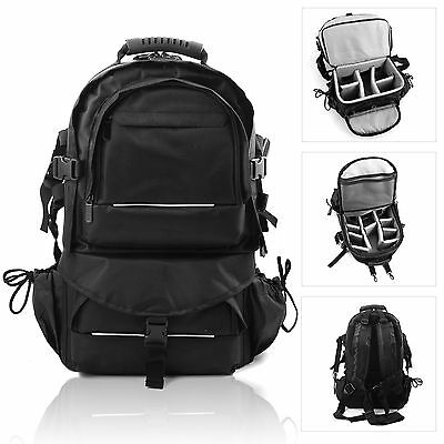 Large Multifunctional Travel Backpack Camera SLR Bag Padded For DSLR Canon Nikon