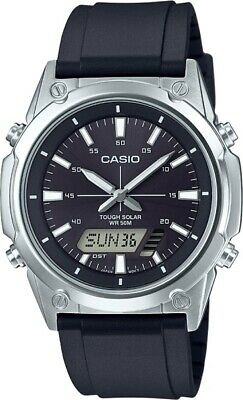 Casio Solar Mens Watch AMW-S820-1A World Time 5 Alarms GIFT BOX EXPRESS POST