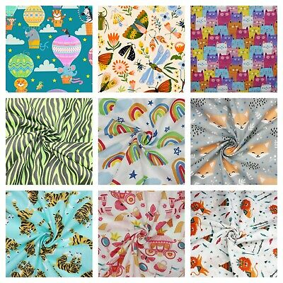 Kids Fabric Half Metres Polycotton Childrens Craft Fabric Girls Boys
