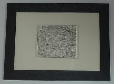 Print dated 1907 which is over 110 years old Map of Punjab x