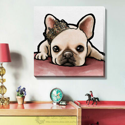 Cute Dog Pet Stretched Canvas Print Framed Kids Wall Art Home Office Decor Gift