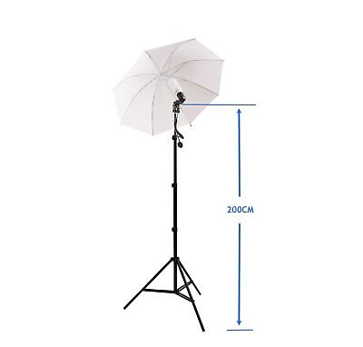 Photo Studio Lighting Kit (45W Lampe + Halter + Schirm)