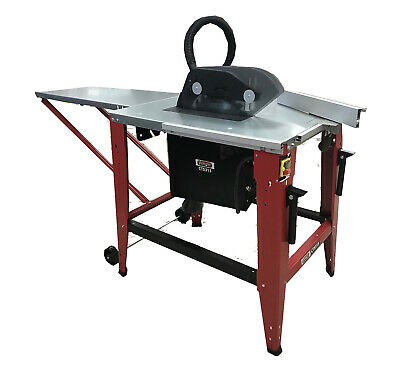 Contractors Table Saw 230V 315mm with Blade Extension & Solid Fence Portable