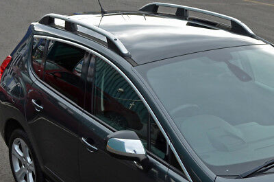 Aluminium Roof Rack Rails Side Bars Set To Fit Peugeot 3008 (2008-16)
