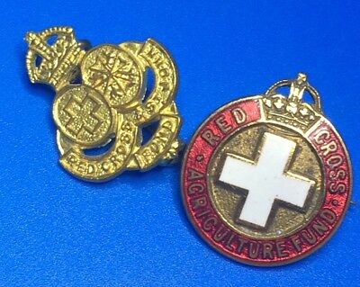 Red Cross Agriculture Fund And St John Badges