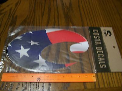 """New Genuine Costa Del Mar Decal Sticker FLAG STARS STRIPES Extra large over 11"""""""