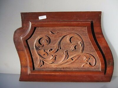 Antique Wooden Panel Plaque Sign Architectural Salvage Vintage Old Gilt Rococo