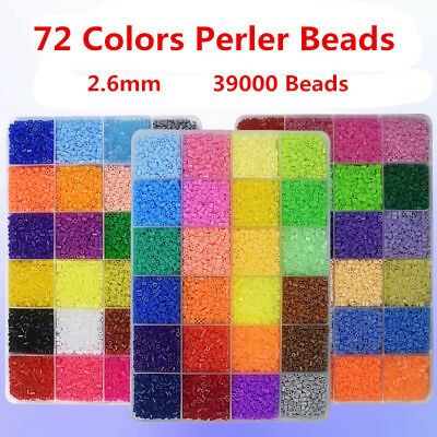 39000pcs 2.6mm 72 Colors Hama/Perler Beads for Child Craft Kit Kids Great Gift