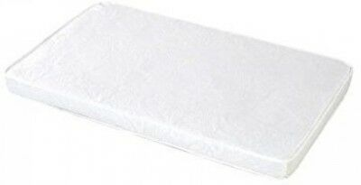 Baby Doll Bedding White Cradle Mattress, 18' x 36' Thick Waterproof Vinyl Cover