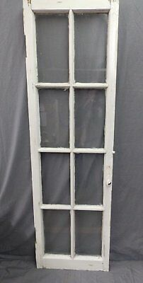 Antique 8 Lite Casement French Door Window Cabinet Chic Vtg Shabby 64x19 468-17P