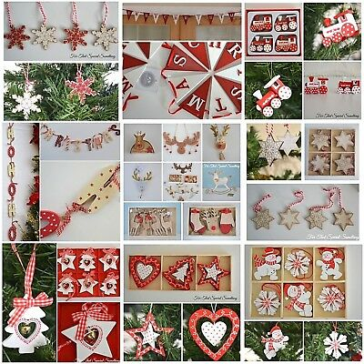 CLEARANCE CHRISTMAS TREE DECORATIONS - SALE - NEED EVERYTHING GONE! santa red