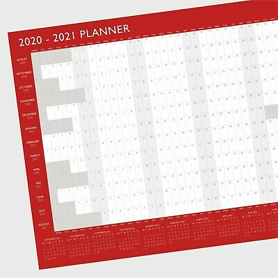 2019 Year Wall Planner Yearly Calendar ~ A2 Size (G42)