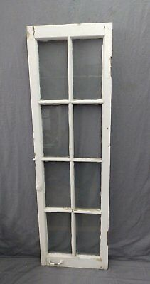 Antique 8 Lite Casement French Door Window Cabinet Chic Vtg Shabby 64x19 474-17P