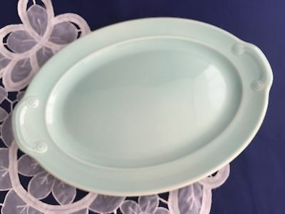 T.S.&T LuRay Pastels Green Collectible Oval Platter 1938-1960 Vintage Pottery