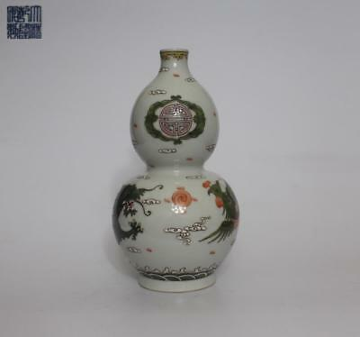 Exquisite Chinese Famille Rose Porcelain Vase Qianlong Marked (009)