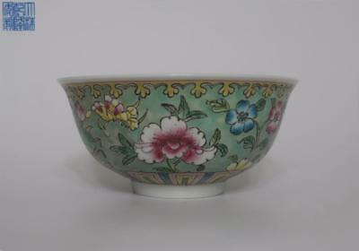 Exquisite Chinese Famille Rose Porcelain Bowl Qianlong Marked (078)