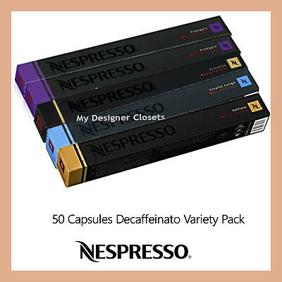 50 Capsules Nespresso Coffee Decaf Decaffeinato Variety Pack Pods MDC