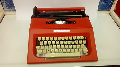 vintage olivetti red college typewriter with original holdall superb condition