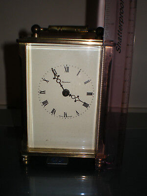 8 Day Very Heavy  Brass Carriage Clock Made In England By I.feld