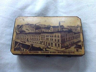 19thC Early ENGLISH Advertising Treen SNUFF BOX Mander Brothers Mauchline Ware ?