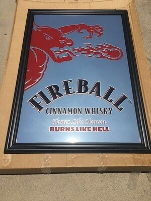 Large Fireball Cinnamon Whiskey Mirror