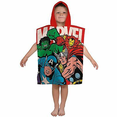 Marvel Comics Strike Hooded Poncho Towel - Childrens Cotton Beach Towel Official