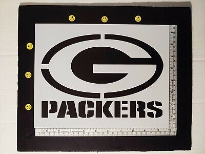 "Green Bay Packers 11"" x 8.5"" Custom Stencil FAST FREE SHIPPING"