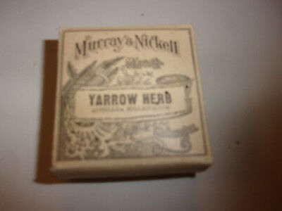 Antique/vintage Quack Medicine~Murray & Nickell Crude Box~Yarrow Herb