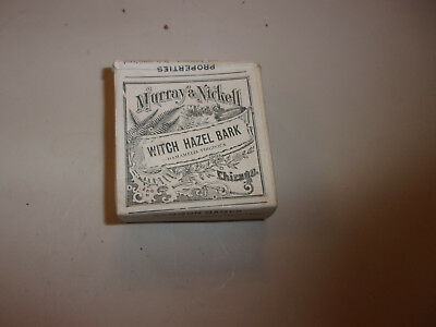 Antique/vintage Quack Medicine~Murray & Nickell Crude Box~Witch Hazel Bark
