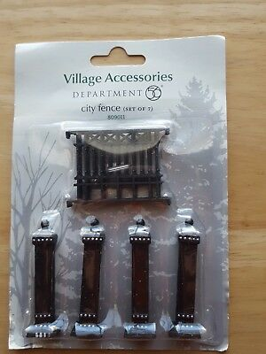 Department 56 City Village Fence Accessory Set of 7 Brand new!