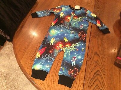 Next Baby Boys All In One Space 🚀 Astronaut 👩🚀 Pyjamas Age 18-24 Months Bnwt