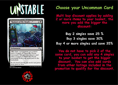 MTG Unstable UST Choose your Uncommon Card - Any 4 for £1.20 - Add 4 to basket