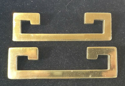 Vintage Solid Brass Drawer Pulls Set of 5