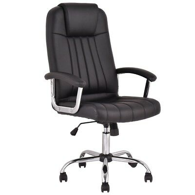 Executive Office PU Leather High Back Racing Recliner Swivel Gaming Chair Stool
